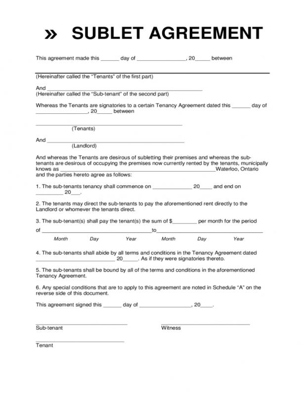 Sublease agreement template for Vehicle sublease agreement template