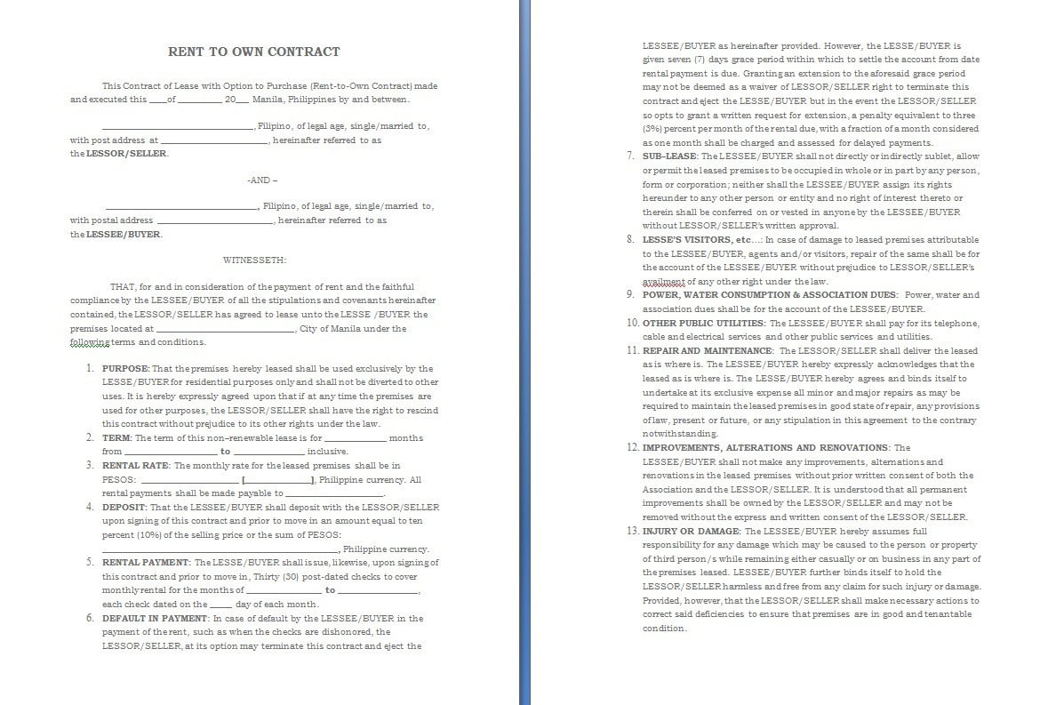 Take Over Car Payments Contract Template