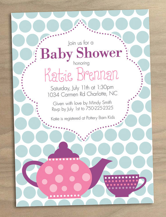 photograph relating to Free Printable Tea Party Invitation Templates known as Tea Bash Invitation Template
