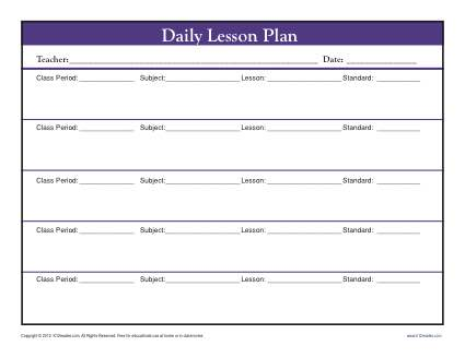Trainer Lesson Plan Template. Teacher Lesson Plan Template