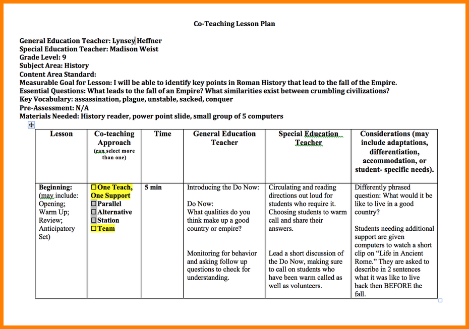 teachers lesson plan template - Keni.candlecomfortzone.com