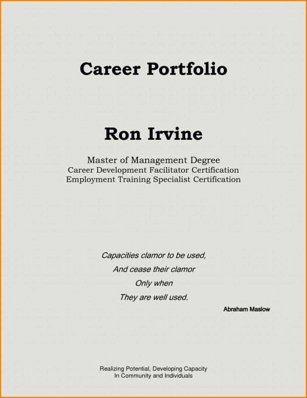 teaching portfolio template