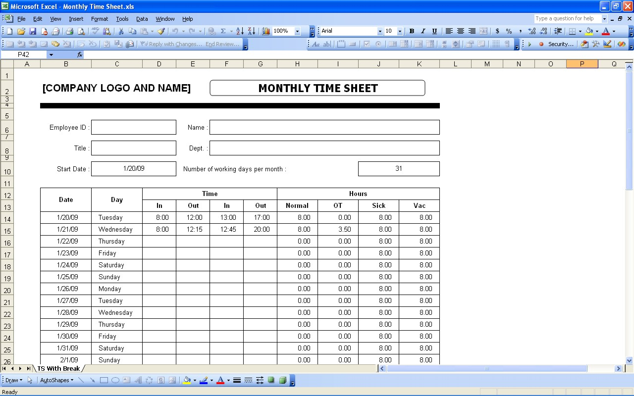 time tracking excel template shatterlioninfo