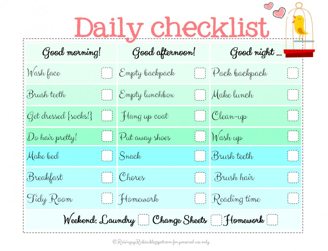 to do checklist template