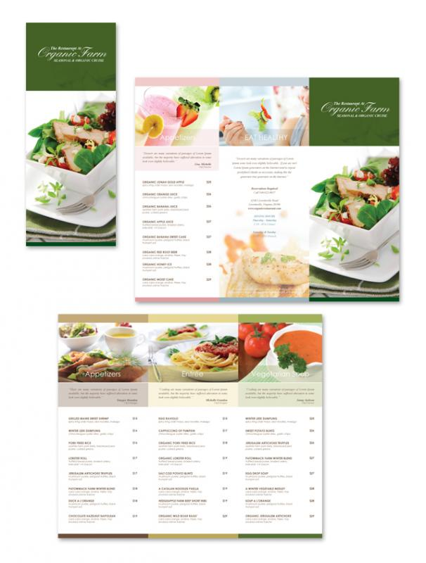trifold menu template
