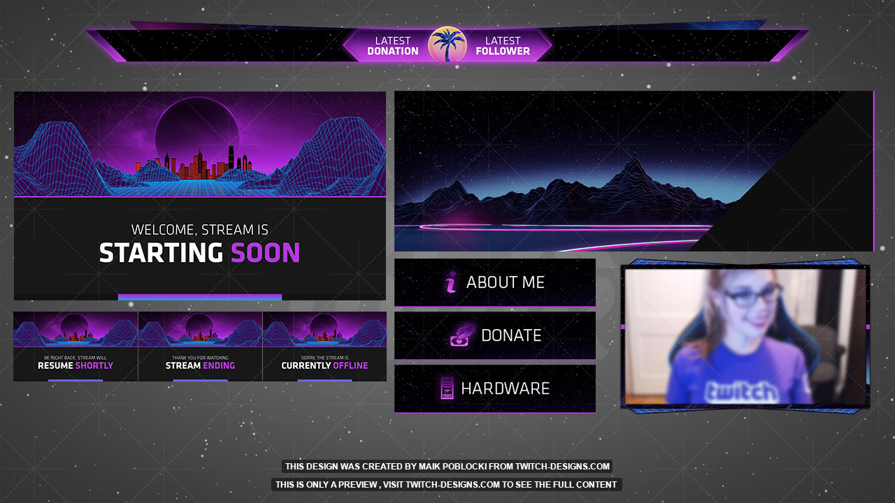 Twitch Banner Template Shatterlionfo