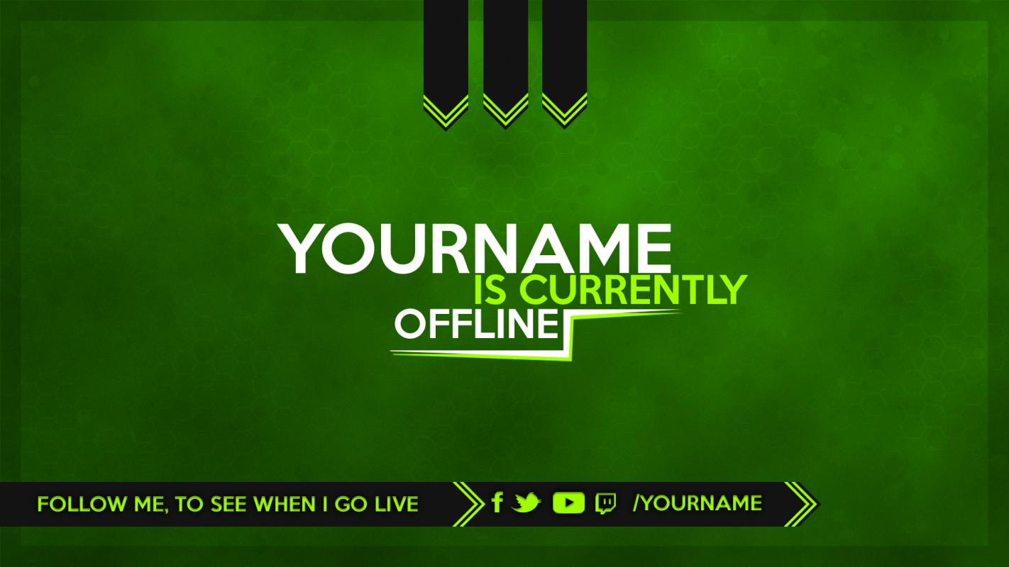 twitch offline banner template. Black Bedroom Furniture Sets. Home Design Ideas