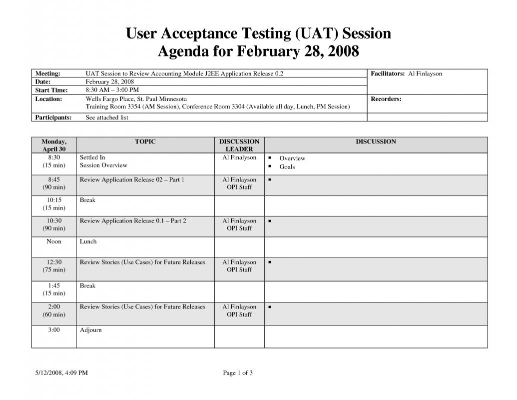 user acceptance testing template