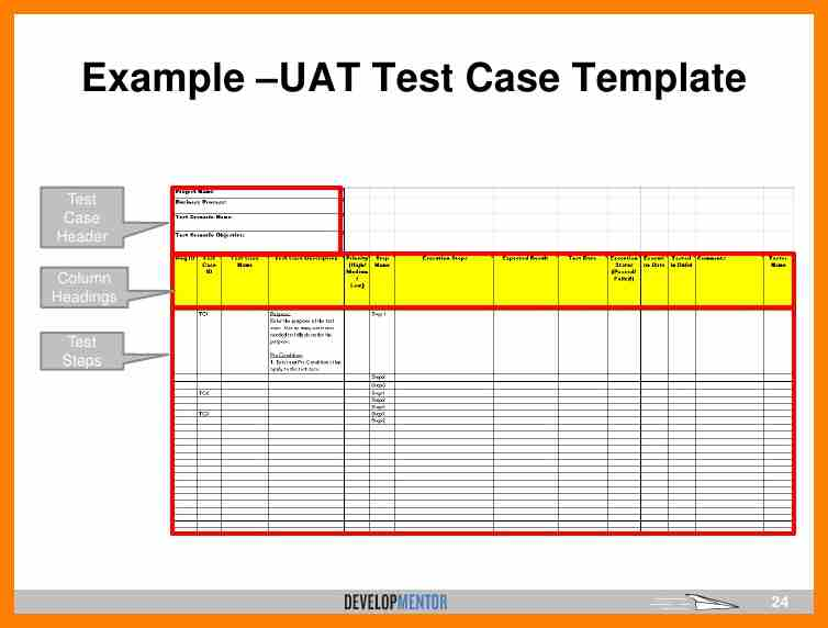 User Acceptance Testing Template | shatterlion.info