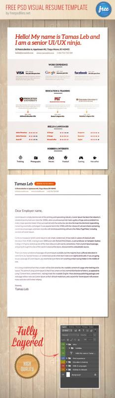 Visual Resume Templates  ShatterlionInfo