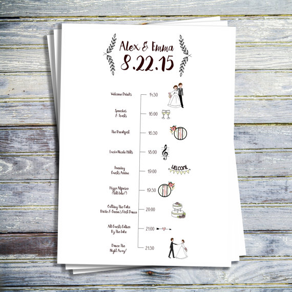 Wedding Itinerary Template Free  ShatterlionInfo