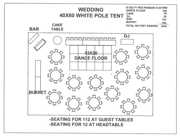 Wedding reception table layout template for Bridal shower seating chart template