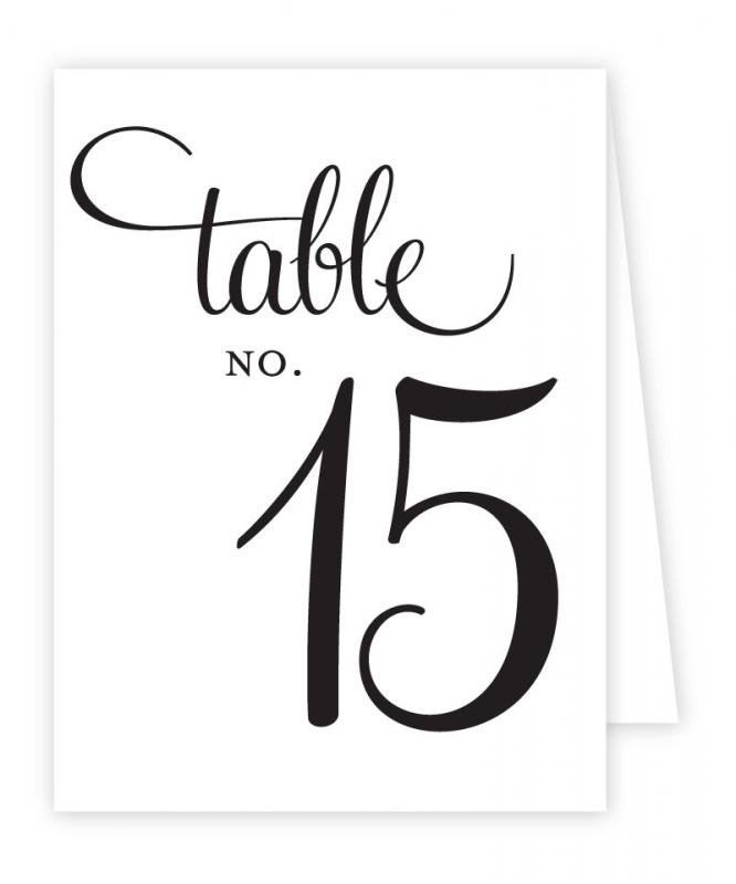 Wedding Table Numbers Template Shatterlion Info