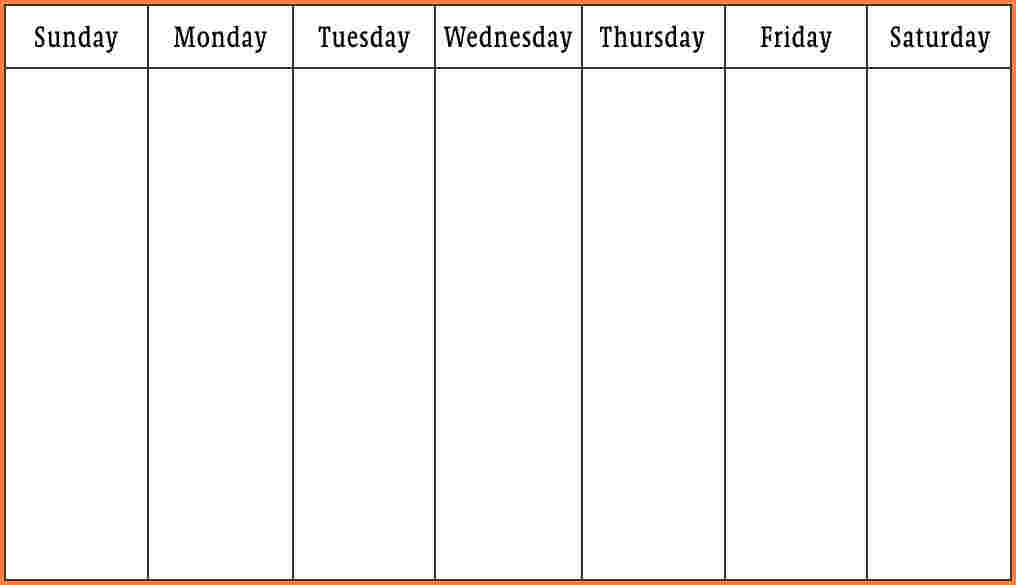 Weekly Calendar Template Word | shatterlion.info