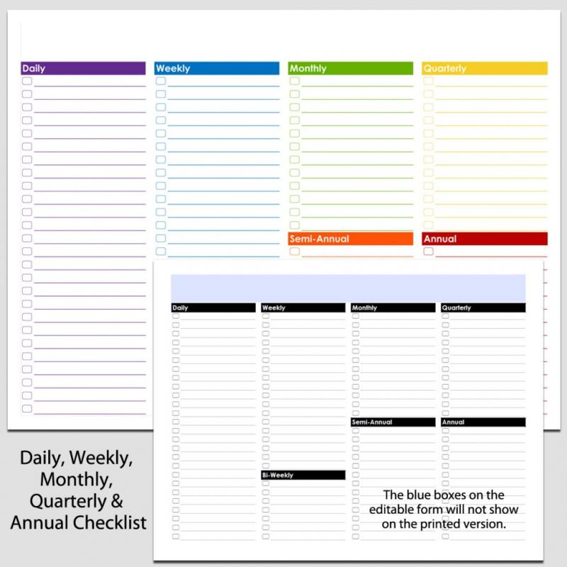 Weekly cleaning schedule template shatterlionfo weekly cleaning schedule template pronofoot35fo Images