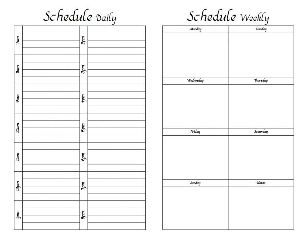 Weekly Hourly Schedule Template Shatterlionfo
