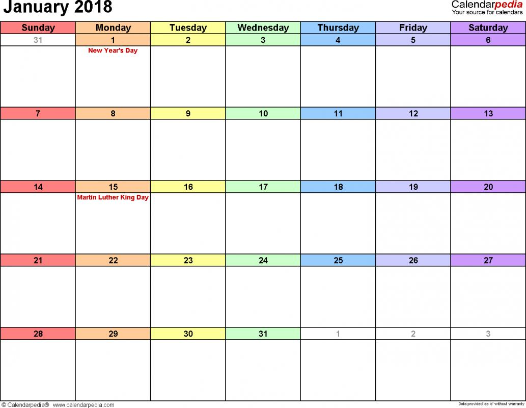 weekly schedule template excel