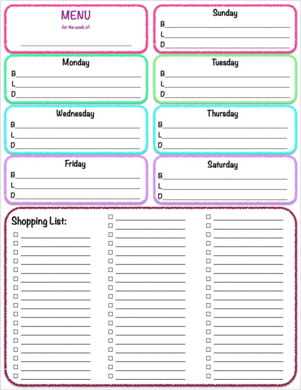 Weekly To Do List Template  ShatterlionInfo