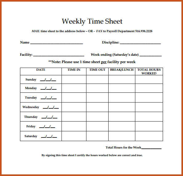 Weekly Update Template | shatterlion.info