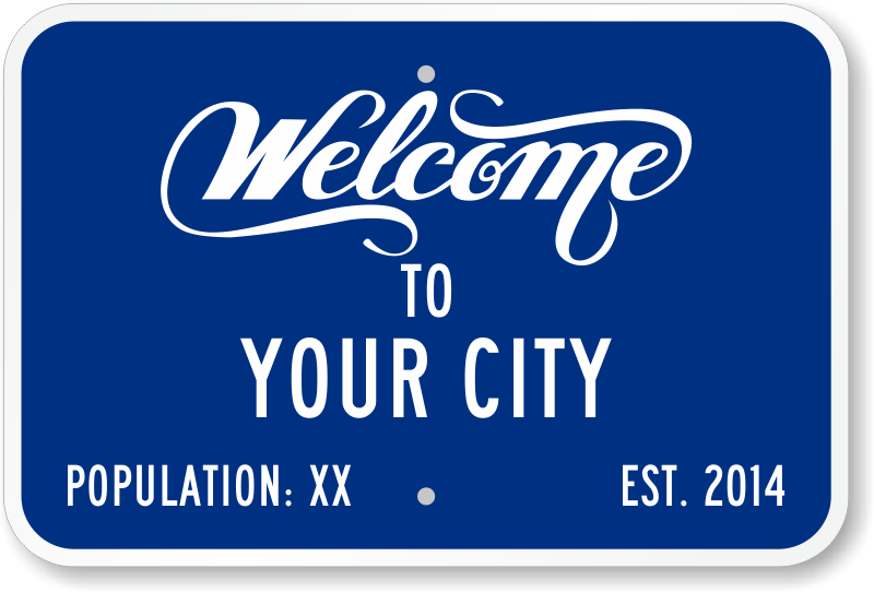 welcome sign template