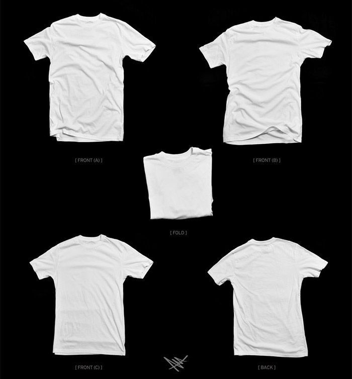 white t shirt template