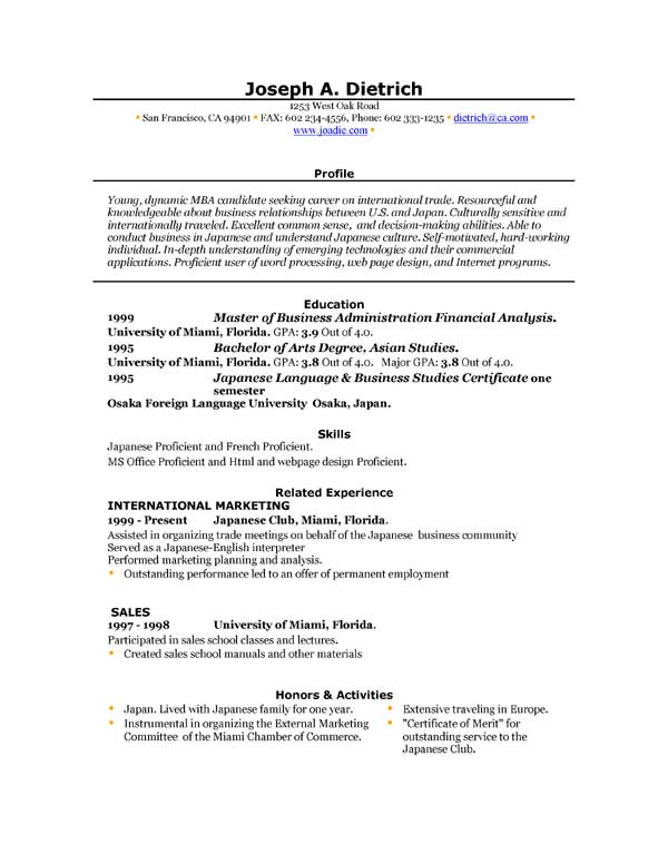 word 2007 resume templates