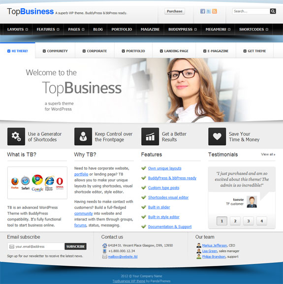 Wordpress templates for business shatterlionfo wordpress templates for business flashek Image collections
