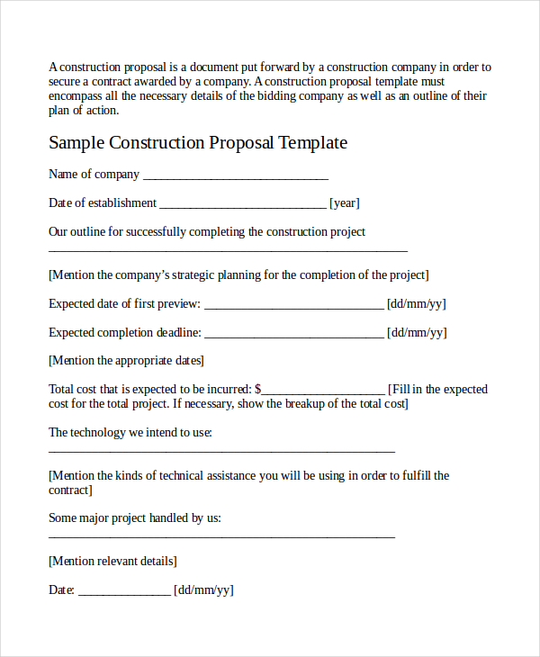 Work Proposal Template  ShatterlionInfo