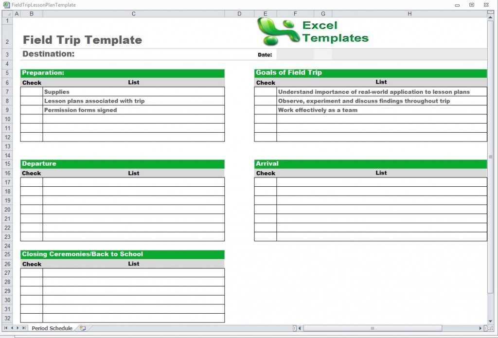 work schedule template