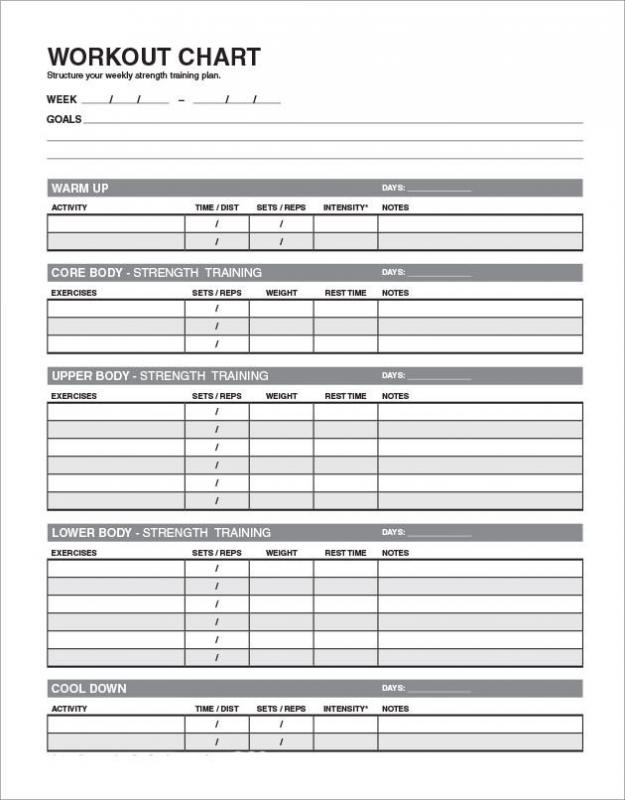 Workout templates for personal trainers for Personal training program template