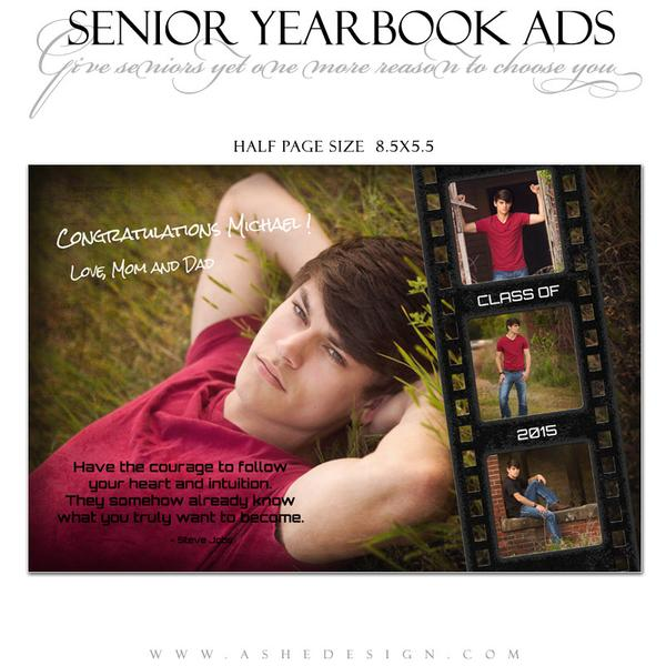yearbook ad templates