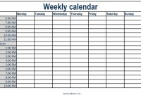 photograph regarding Printable Weekly Appointment Calendar identified as Appointment Calendar Template