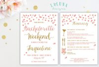 Bachelorette Party Itinerary Template Shatterlioninfo - Party invitation template: bachelorette party itinerary template