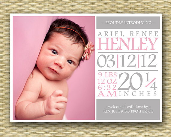 Baby girl birth announcement northurthwall pronofoot35fo Gallery