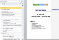 Business Continuity And Disaster Recovery Plan Template - Disaster recovery and business continuity plan template
