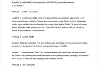 Commercial Lease Agreement Template Word Shatterlion Info