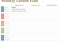Free Lesson Plan Templates Shatterlioninfo - Lesson plan schedule template