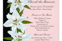 Funeral Announcement Template  Funeral Announcements Template