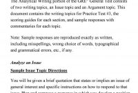 Gre Issue Essay Template | shatterlion.info
